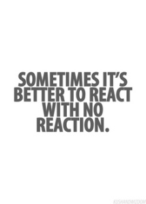 no reaction