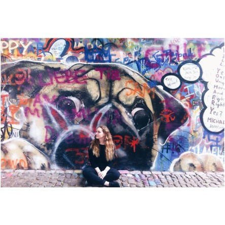 Al at John Lennon Wall